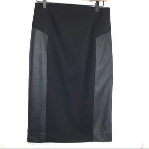 Express faux vegan leather block pencil skirt 4